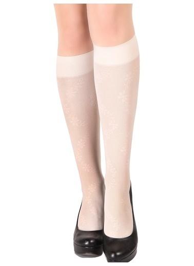 Pierre Cardin 3'Lü Desenli Dizaltı Çorap Beyaz